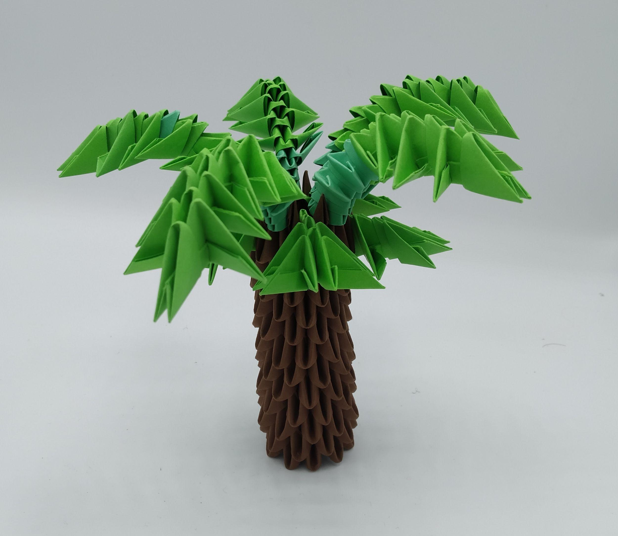 LOUVARD Bastien - Palmier - origami 3D